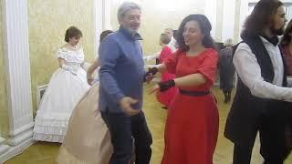 Кадриль. Рождественский бал в усадьбе Вороново 09.01.2019.
