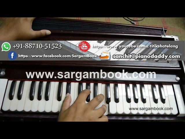 Channa Ve - Kunal Ganjawala Harmonium Lesson Sargam Book