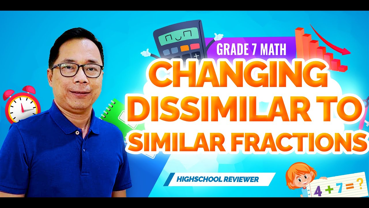 small resolution of Changing Dissimilar to Similar Fractions Exercises - YouTube
