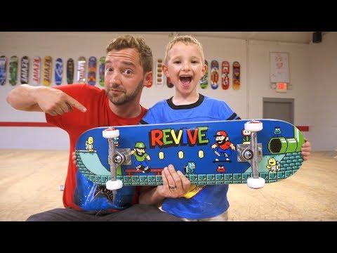 New VIDEO GAME ReVive Skateboard Setup! / Andy Schrock