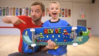 New VIDEO GAME ReVive Skateboard Setup! / Andy Schrock