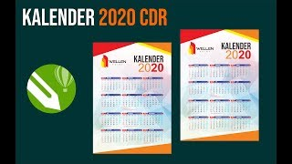 Gambar cover Cara Membuat Desain Kalender 2020 + CDR Template  - Jasa Desain Kalender