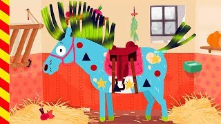 Лошадь для детей. Украшаем лошадь. Мультфильм про Пони. Мультики для девочек 5 лет.