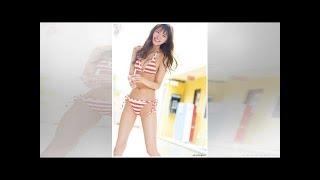 岡崎紗絵:水着姿ですらり美脚 人気モデルが「ヤンマガ」に.