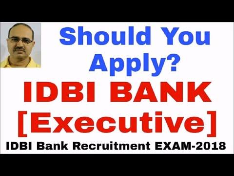 IDBI BANK Executive Recruitment 2018: Should You Apply   #Amar Sir
