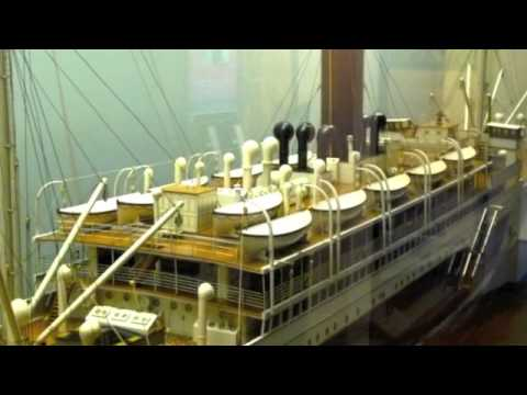 TS Hildebrand Booth Line Ship Model at Merseyside maritime Musuem Liverpool
