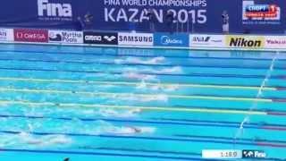 18-ти летний Евгений Рылов на дебютном ЧМ-2015 выиграл  бронзу на 200-метровке на спине