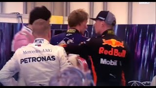 F1 - Max Verstappen FIGHTS Esteban Ocon after Crash in 2018 Brazil GP