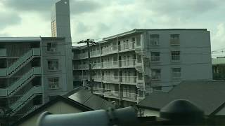 南海線 粉浜駅から堺駅 普通車側面展望
