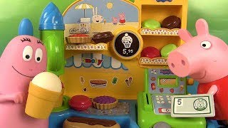 Peppa Pig Marchande de Glaces Smoby Tartes, Macarons et Glaces avec Barbapapa
