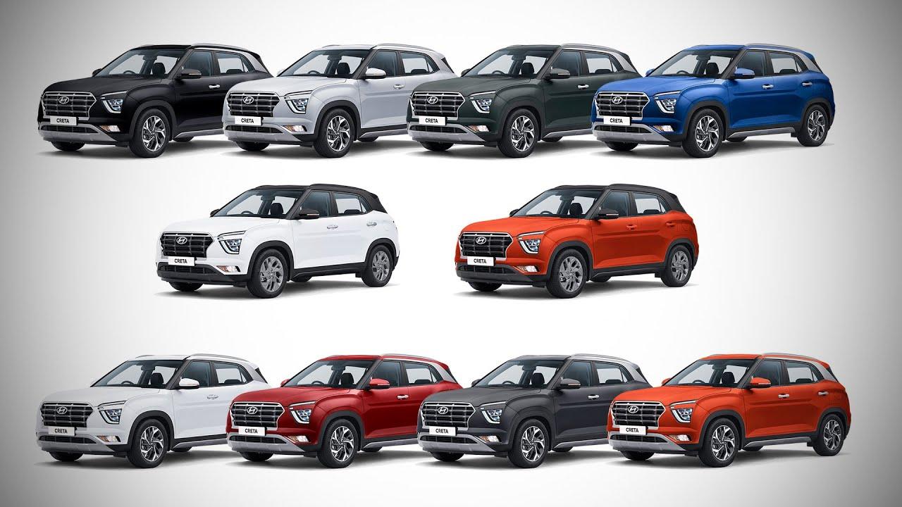 2020 Hyundai Creta All Colours Images Autobics Youtube
