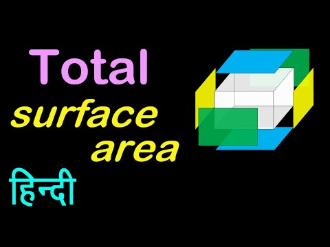 Total surface area of a cuboid | in HINDI | हिंदी