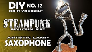 Steampunk DIY Industrial Pipe Lamp #12 / How to Make an Industrial Steampunk Pipe Lamp screenshot 4
