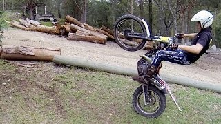 Basic trials training: wheelies on a trials bike