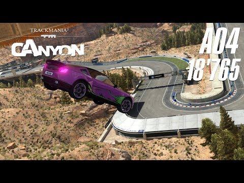 [WR] TrackMania² Canyon A04 | 18'765 by riolu!