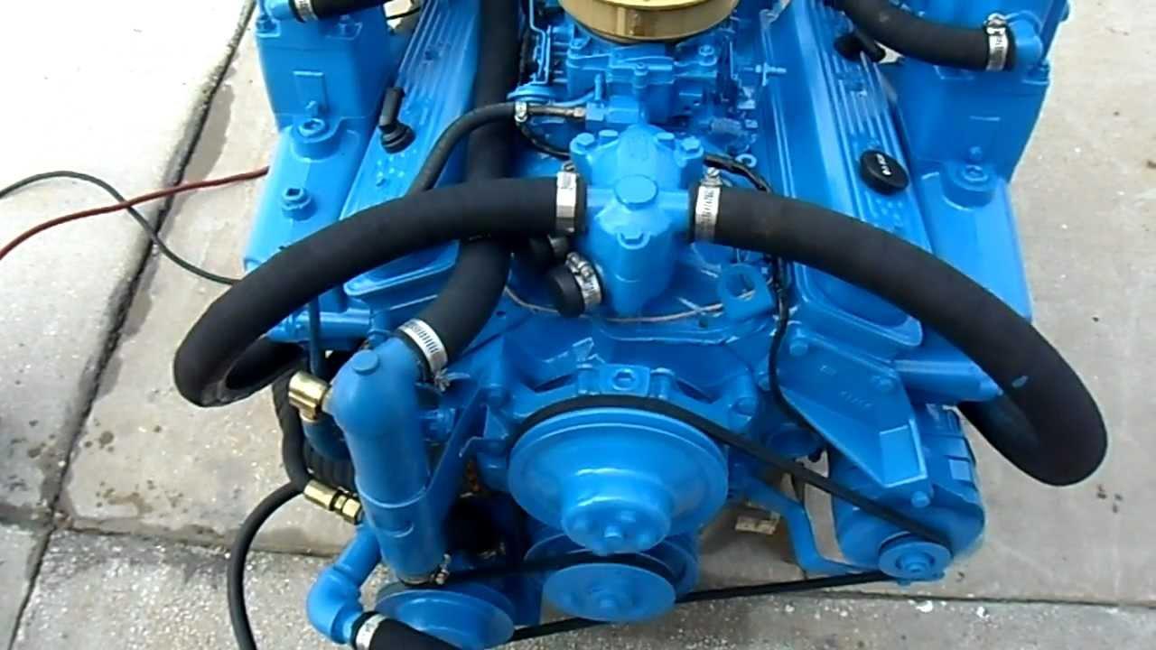 57 270hp Crusader Counter Rotation Engine Test Run