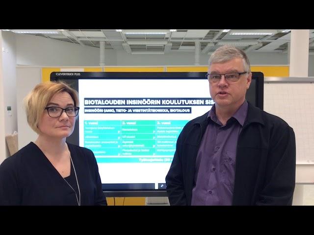Mikä on tietotekninen ydin Biotalouden insinöörikoulutuksessa?