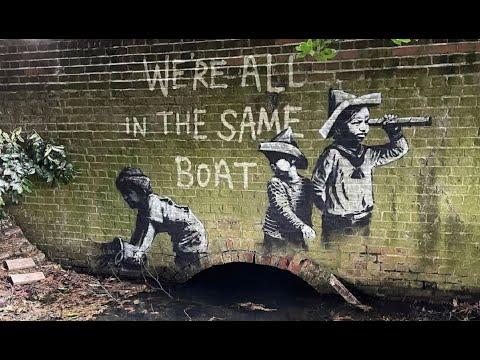 New BANKSY street art in England