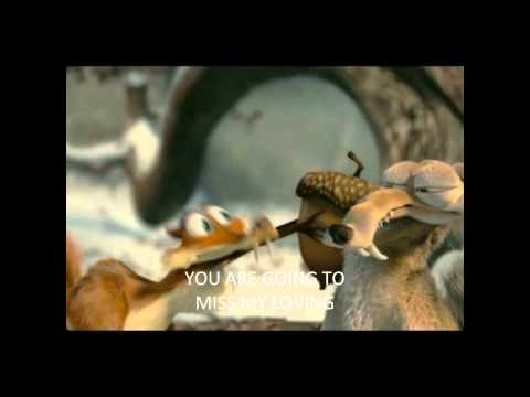 Scrat meets girl!! Lyrics Ice age dawn of the dinosaurs HD