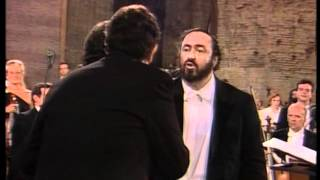 """O Sole Mio"" Pavarotti, Carreras, Domingo - Rome 1990 - DVD quality"