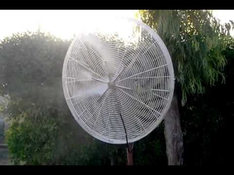 PATIO OUTDOOR COOLING SYSTEM   FANS WITH MISTING SYSTEM By Misting  Solutions U.A.E