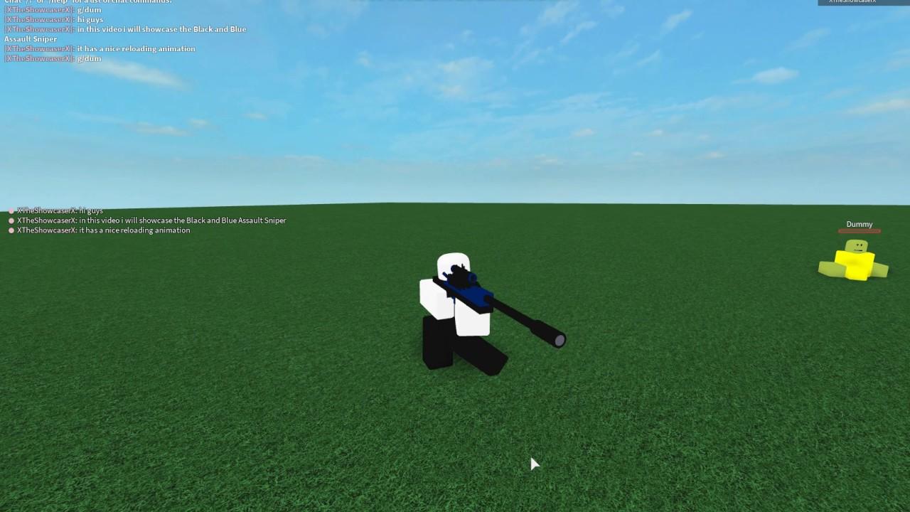 Roblox Script Showcase Episode#339/Black and Blue Assault Sniper
