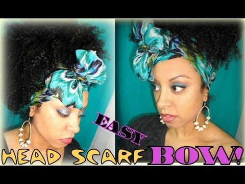 how to make a bow with a scarf
