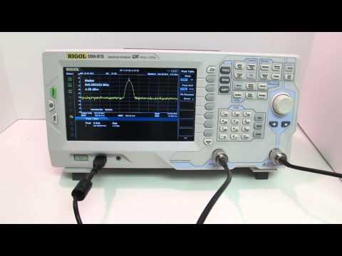 Rigol DSA-815 Spectrum Analyzer - Product Overview - YouTube