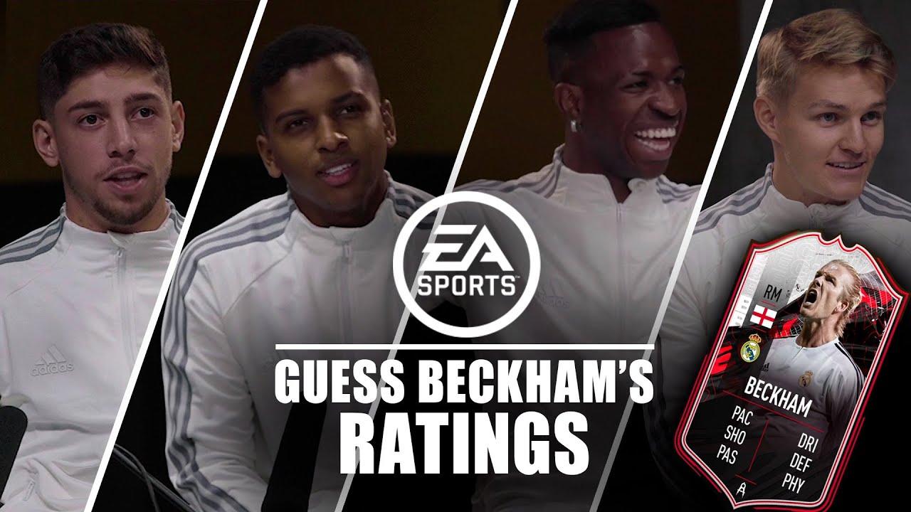🤔 Ødegaard, Rodrygo, Vini & Valverde guess Beckham's FIFA 21 stats!