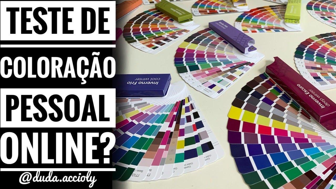 Teste de Coloração Pessoal ONLINE e Contraste Pessoal por Duda Accioly