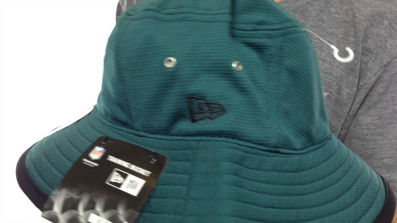 621752e042222 Eagles  2014 NFL TRAINING BUCKET  Green Hat by New Era - YouTube