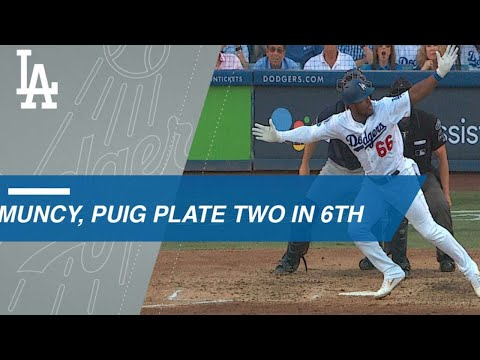 Muncy, Puig drive in a pair to give Dodgers the lead