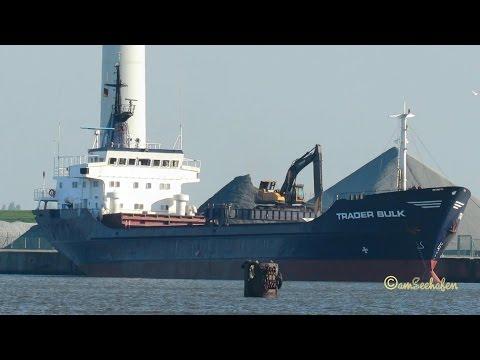 coaster TRADER BULK OZ2094 IMO 7233060 self discharging bulker Emden KüMo