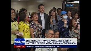 Saksi: Sen. Trillanes, nagpiyansa para sa kasong rebelyon na muling binuhay ng Makati RTC Branch 150