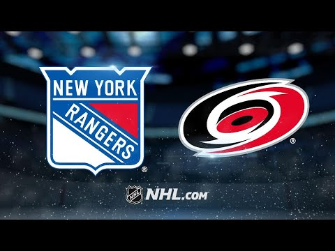 Lundqvist backstops Rangers to win against Hurricanes