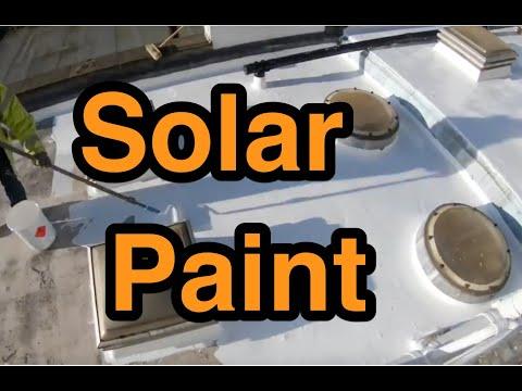 Solar reflective paint over asphalt roof London