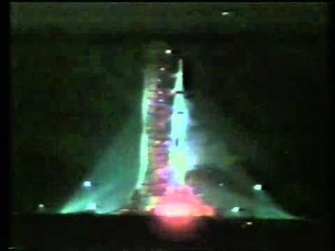 Launch of Apollo 17 orignal NASA Footage of Saturn V night ...