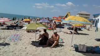 �������� ���� Прошел час. Полный пляж людей. Затока 11 утра 05.07.2017 ������