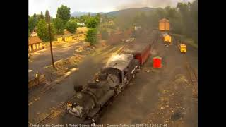 7/12/2018 Eight car train 215 arrives into Chama, NM