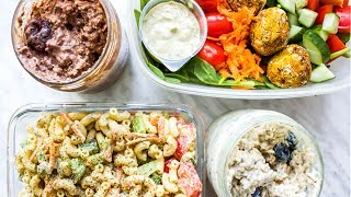 EASY HIGH PROTEIN MEAL PREP IDEAS // VEGAN (1 HOUR)
