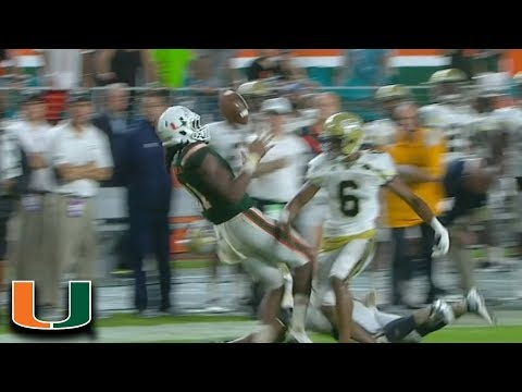 Malik Rosier & Darrell Langham Save Miami With Crazy 4th Down Completion