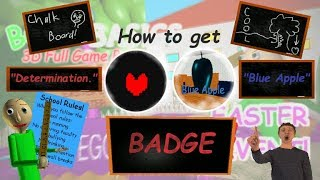 """How to get """"Determination."""" and """"Blue Apple"""" Badge 