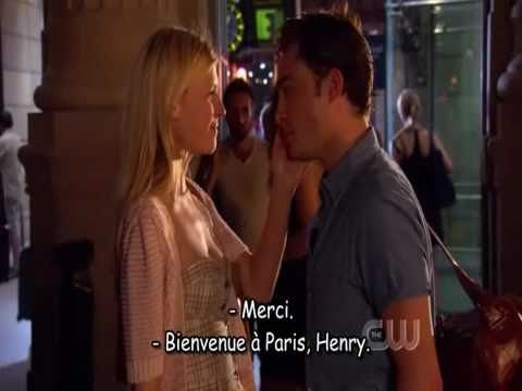 Gossip girl 4x01 Chuck Bass end's with Eva  ... Paris French HD