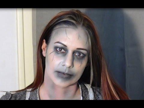 Easy Zombie Dinair Airbrush Makeup Tutorial - YouTube