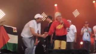 Keny Arkana - 5eme Soleil + La Rage & salutations des artistes [SOLIDAYS 2013]