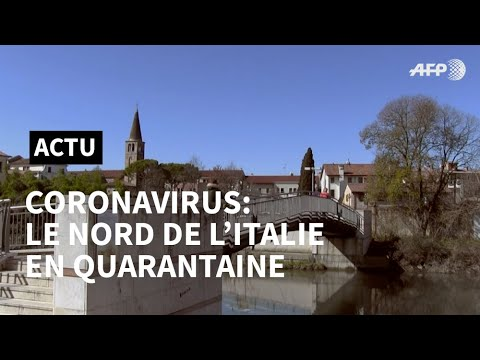 Coronavirus en Italie: la Vénétie mise en quarantaine | AFP News