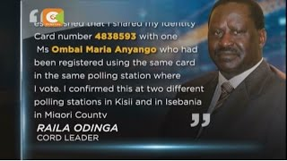 Raila shares ID number with another voter