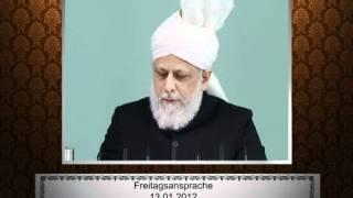 Aussagen: Freitagsansprache vom 13. Januar 2012 - Urdu