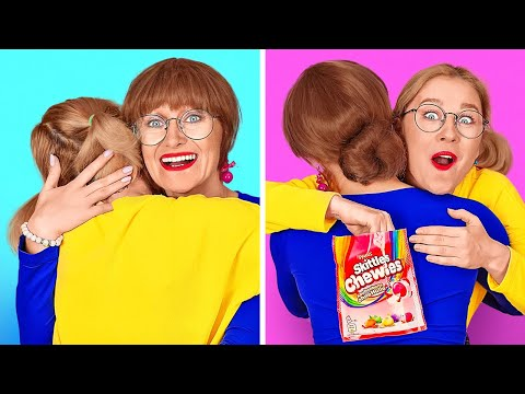HOW TO SNEAK CANDIES AND FOOD ANYWHERE || Funny Food Hacks by 123 GO!