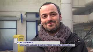 Saint-Valentin : déclarer sa flamme sur les affichages des communes
